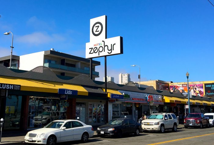 Hotel Zephyr fasad mot fishermans wharf