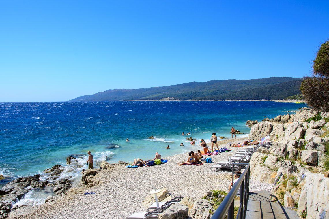 Girandella Beach Rabac Kroatien