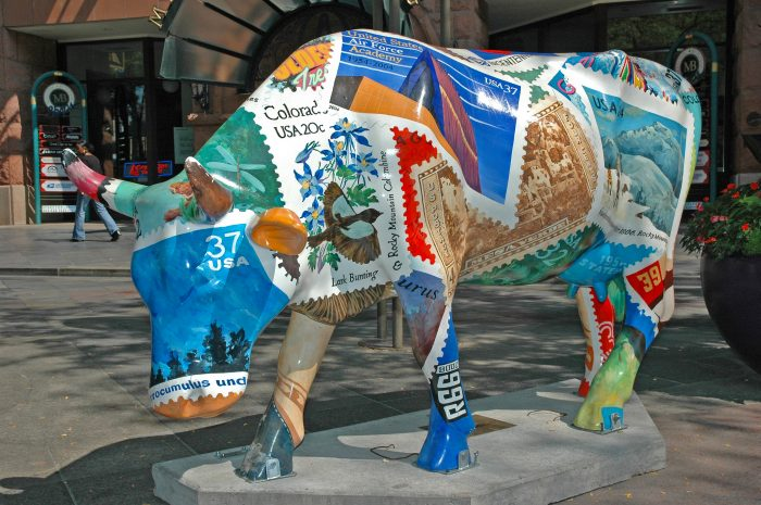 Cowparade Denver Colorado Stamp(ede)
