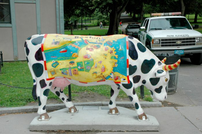 Kids Map of Boston cowparade