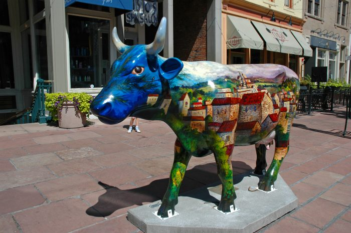 CowParade Denver Village Cow