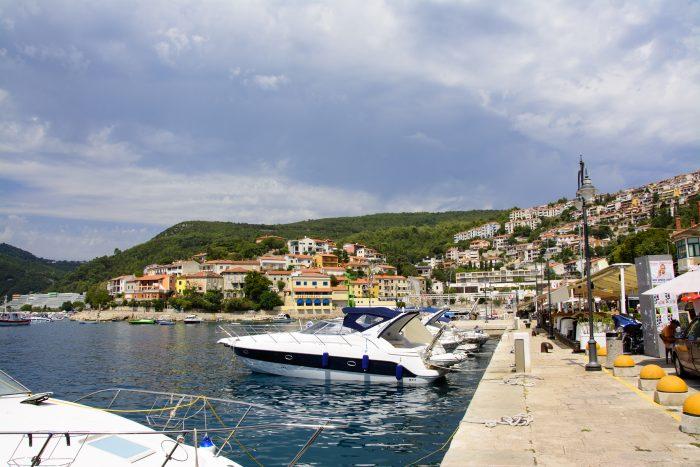 rabac hamn kroatien