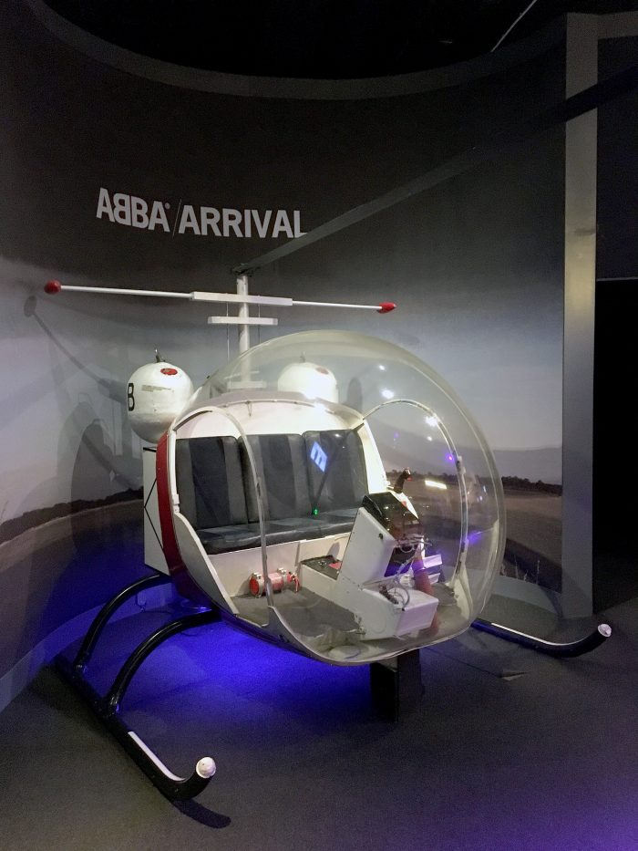 arrival helikopter abba the museum
