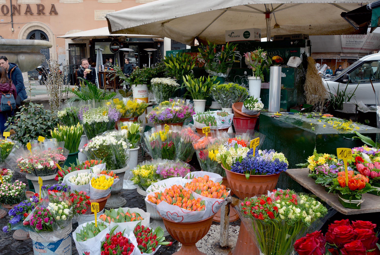 Vår helg i Rom Campo di Fiori