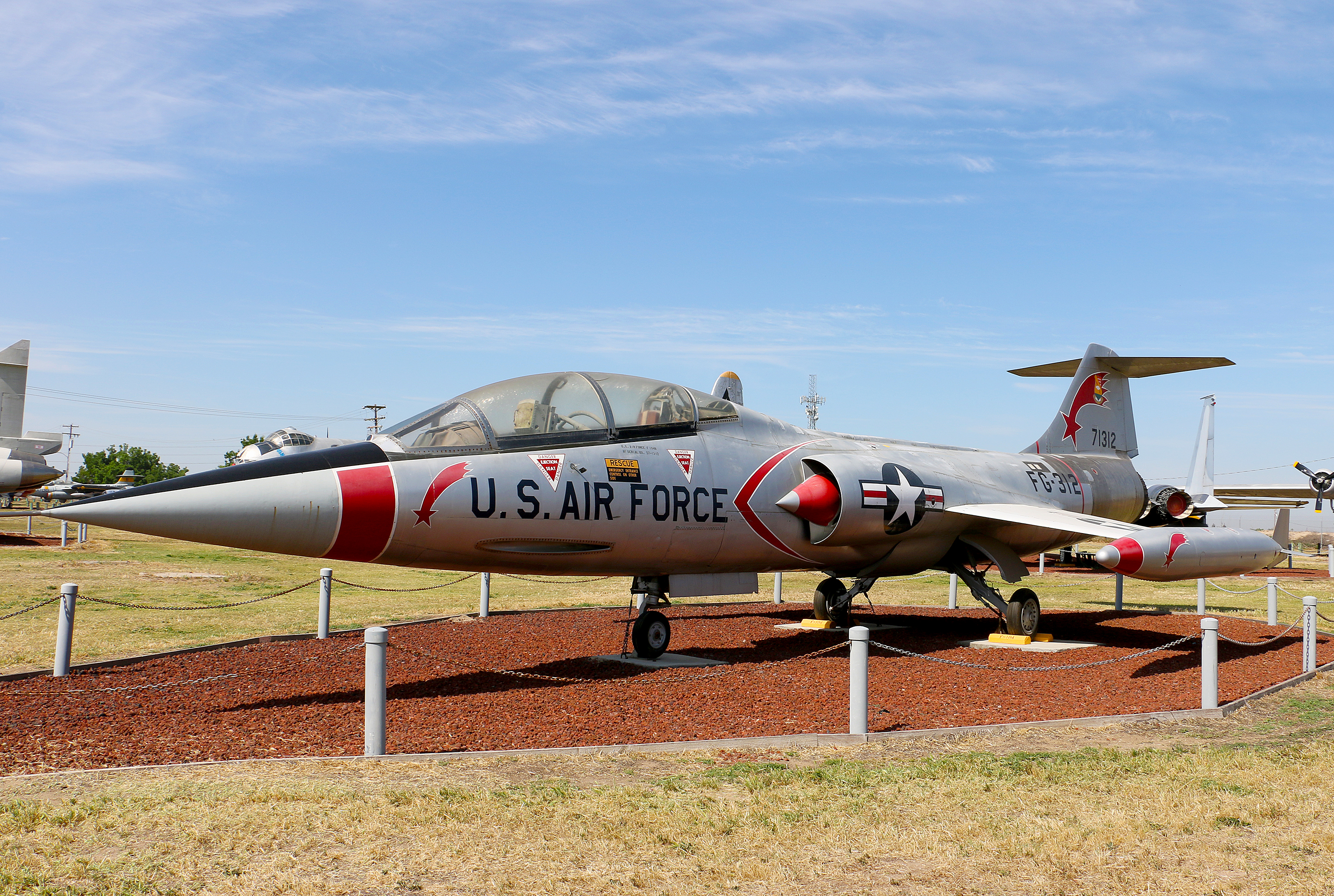 Lockheed F-104B Starfighter Castle Air Museum