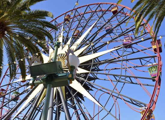 Mickey Fun Wheel Pixar pier california adventure