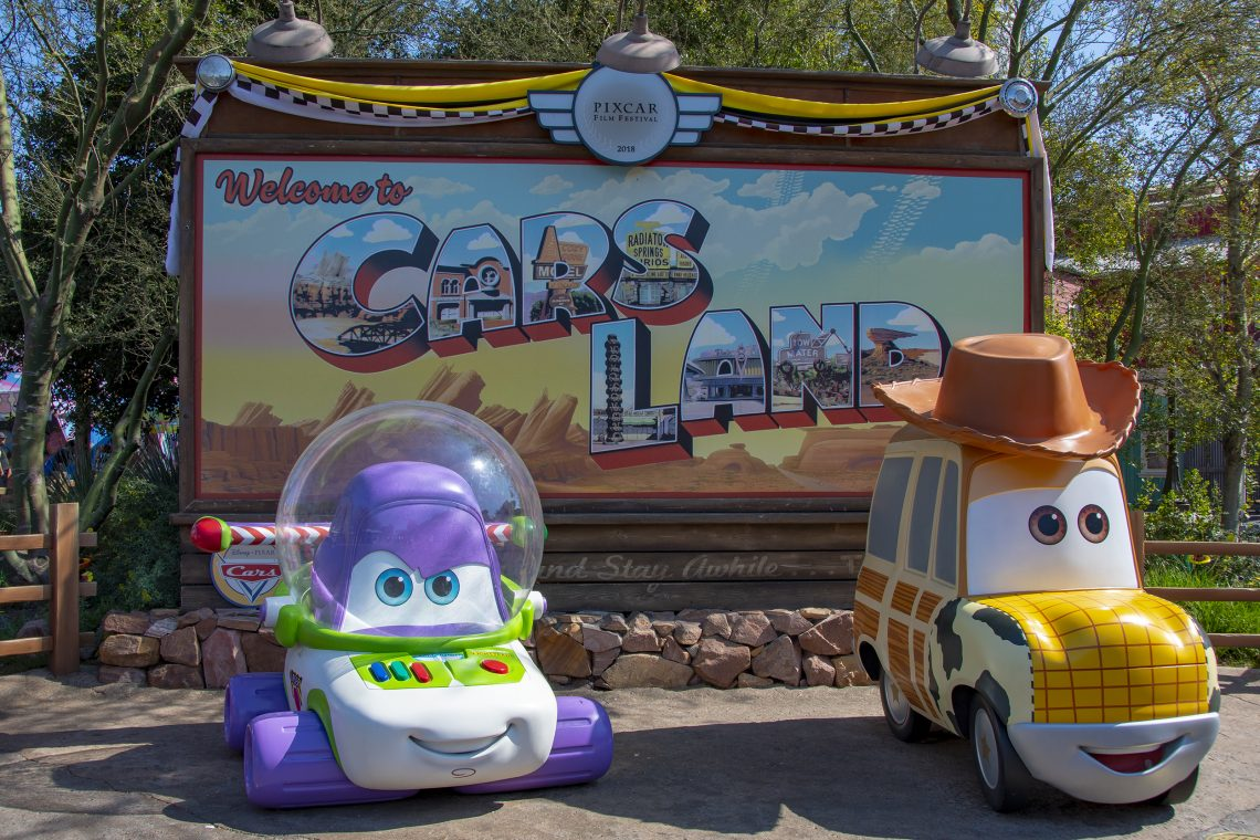 cars land pixar fest disneyland