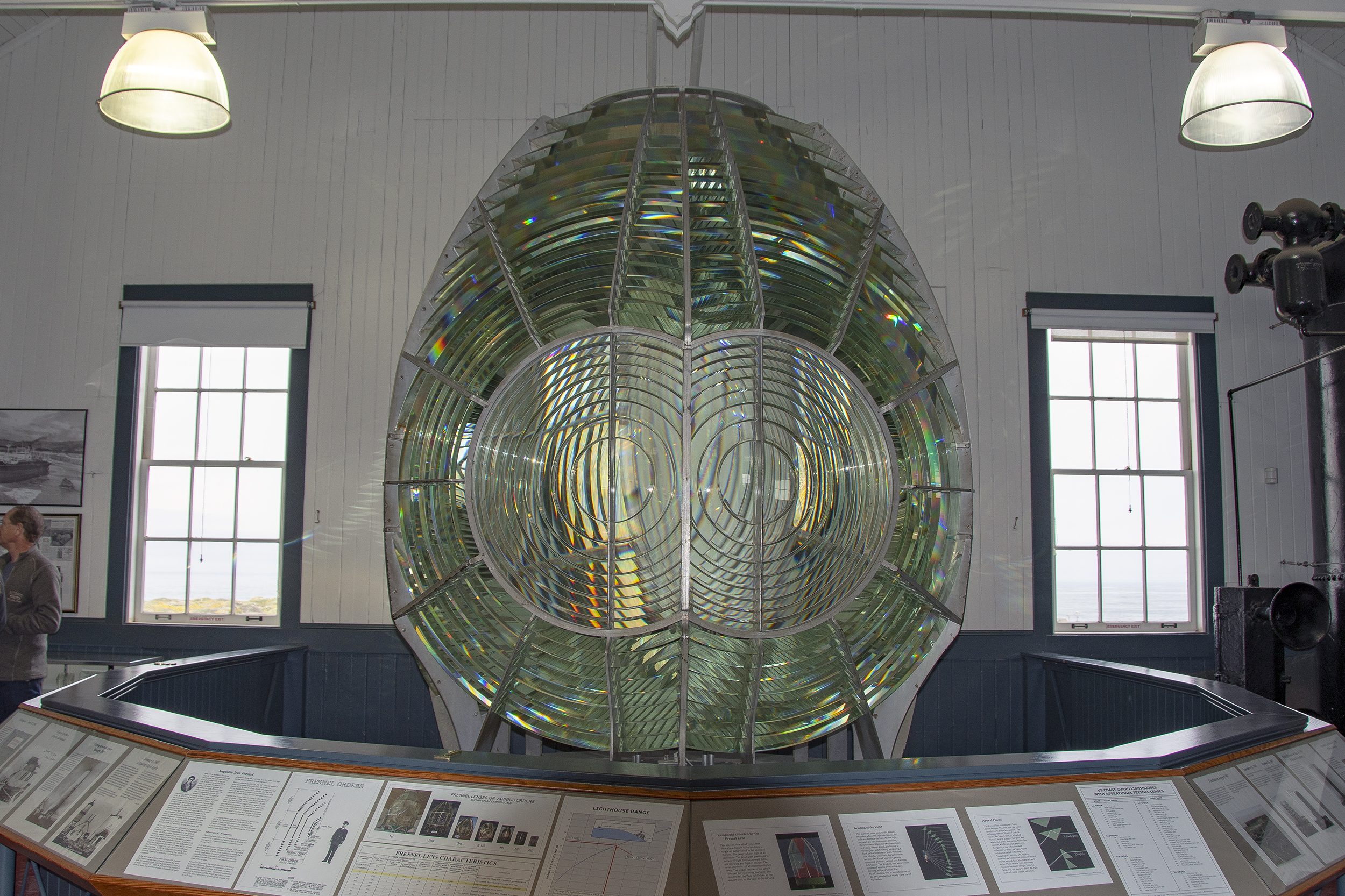Fresnel lens Point Arena Lighthouse