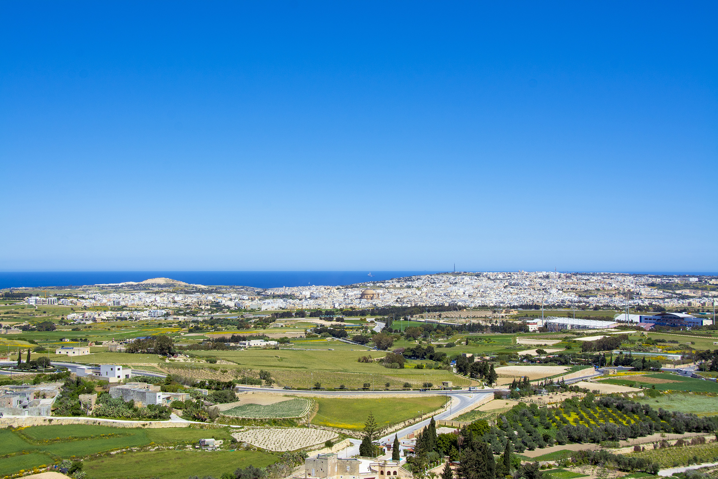 Utsikt från Mdina Malta