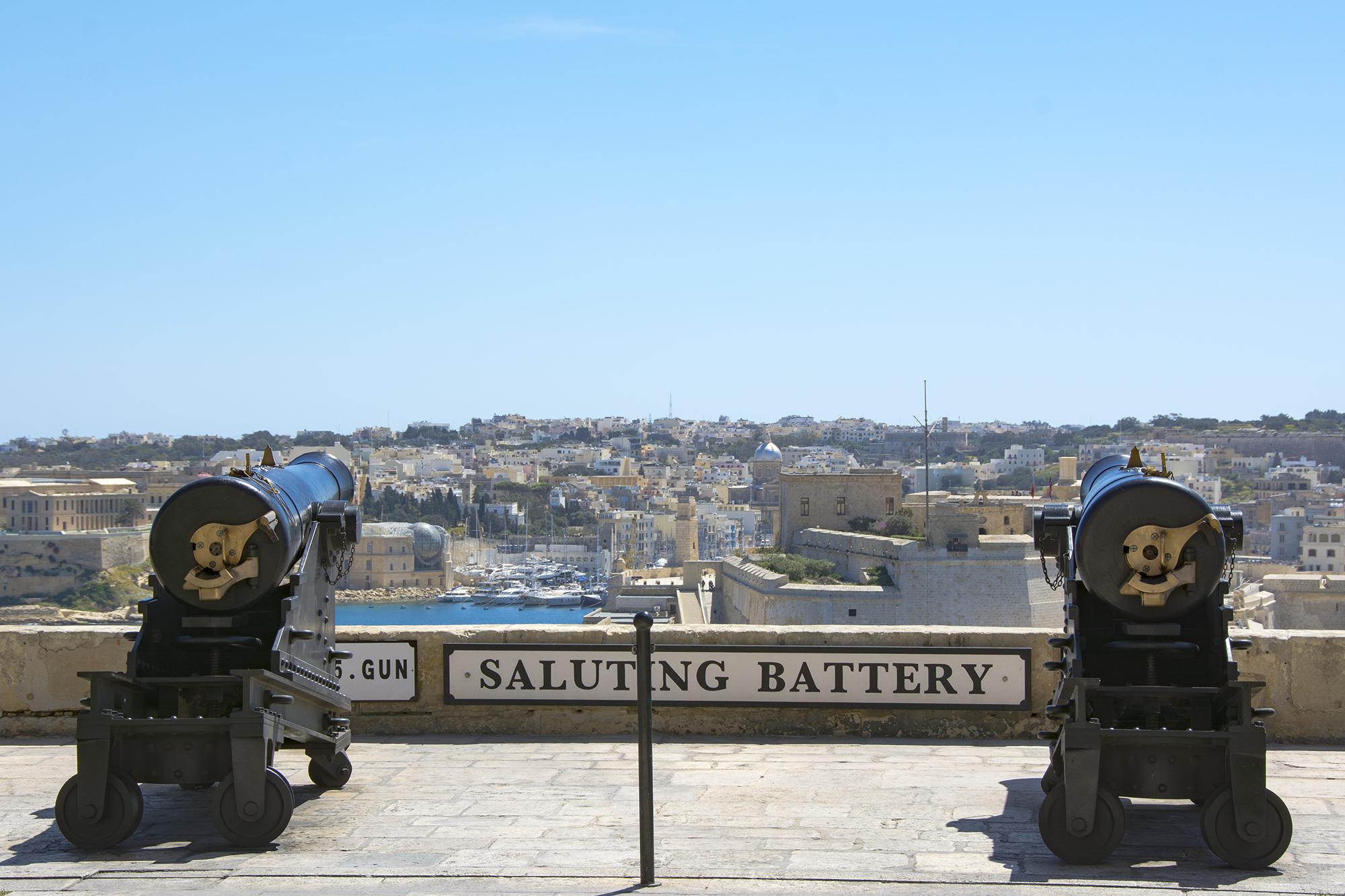 Saluting Battery upper barrakka gardens