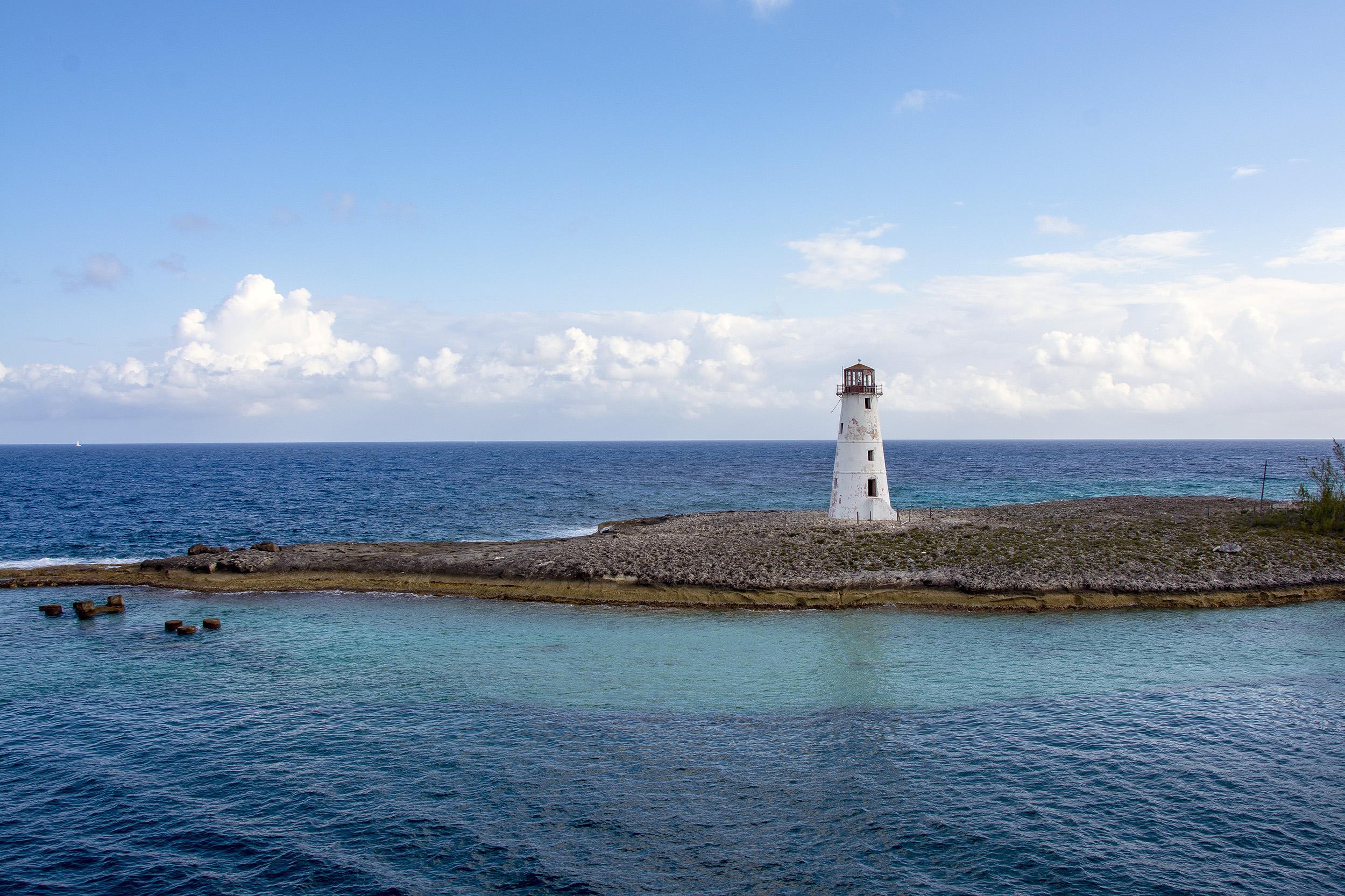 Nassau Harbour Hog Lighthouse Bahamas