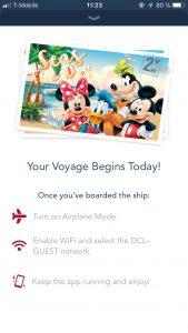 Disneykryssning DIsney Cruise Line app