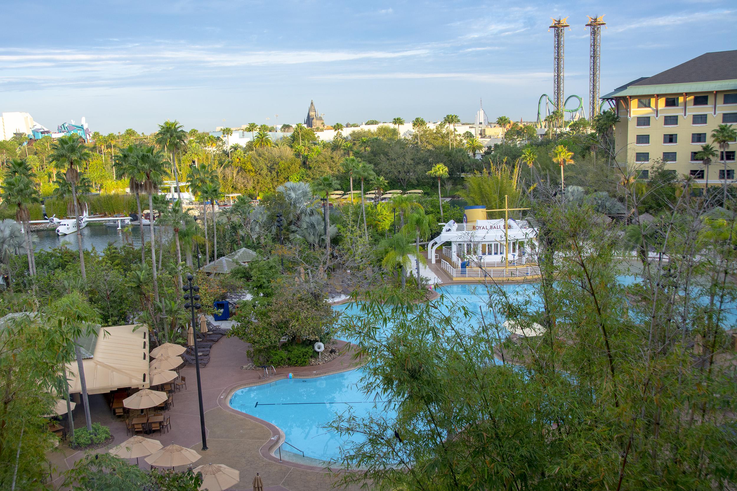 Loews Royal Pacific Resort Universal Orlando utsikt rum