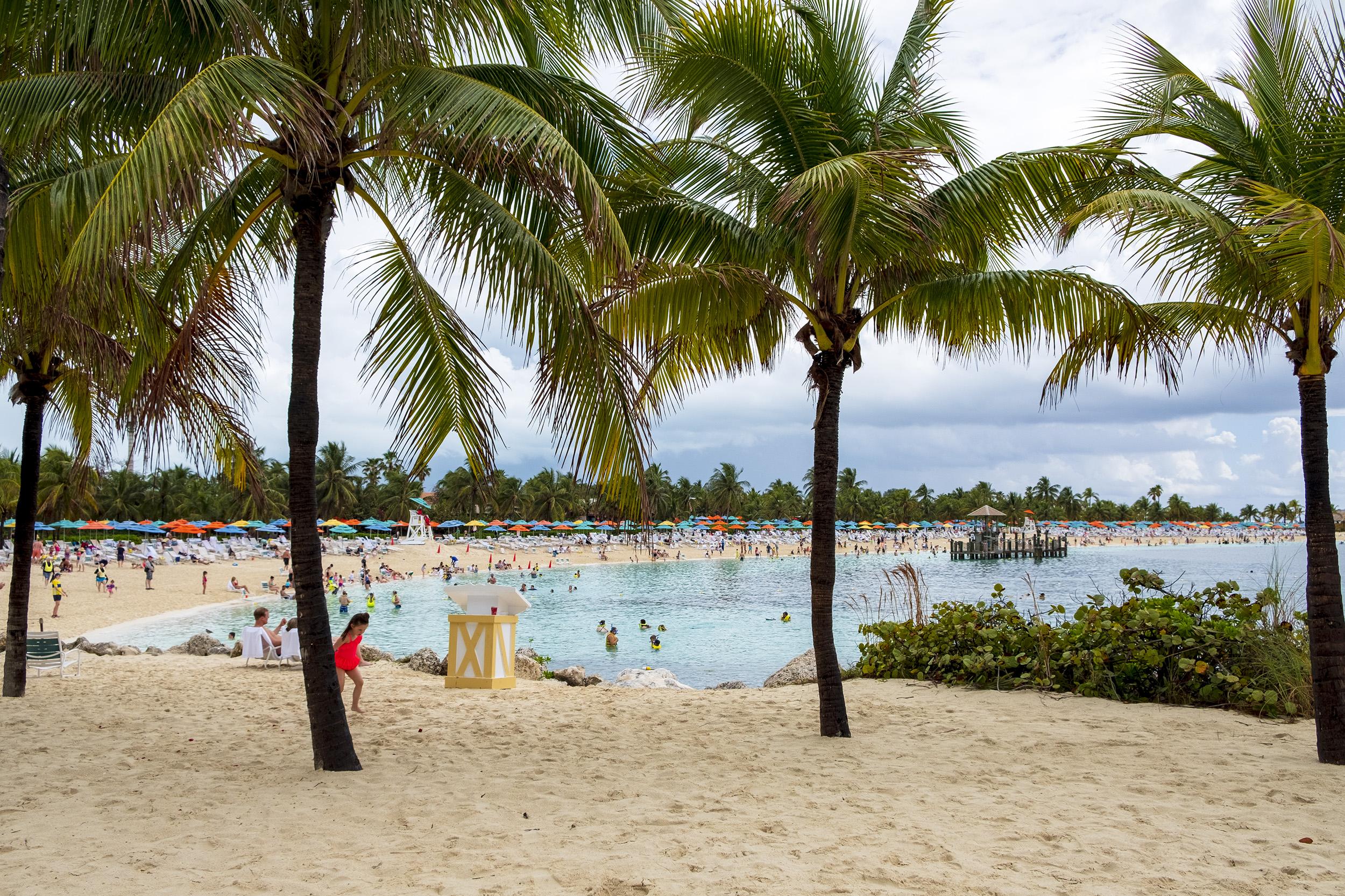 Family Beach på Castaway Cay
