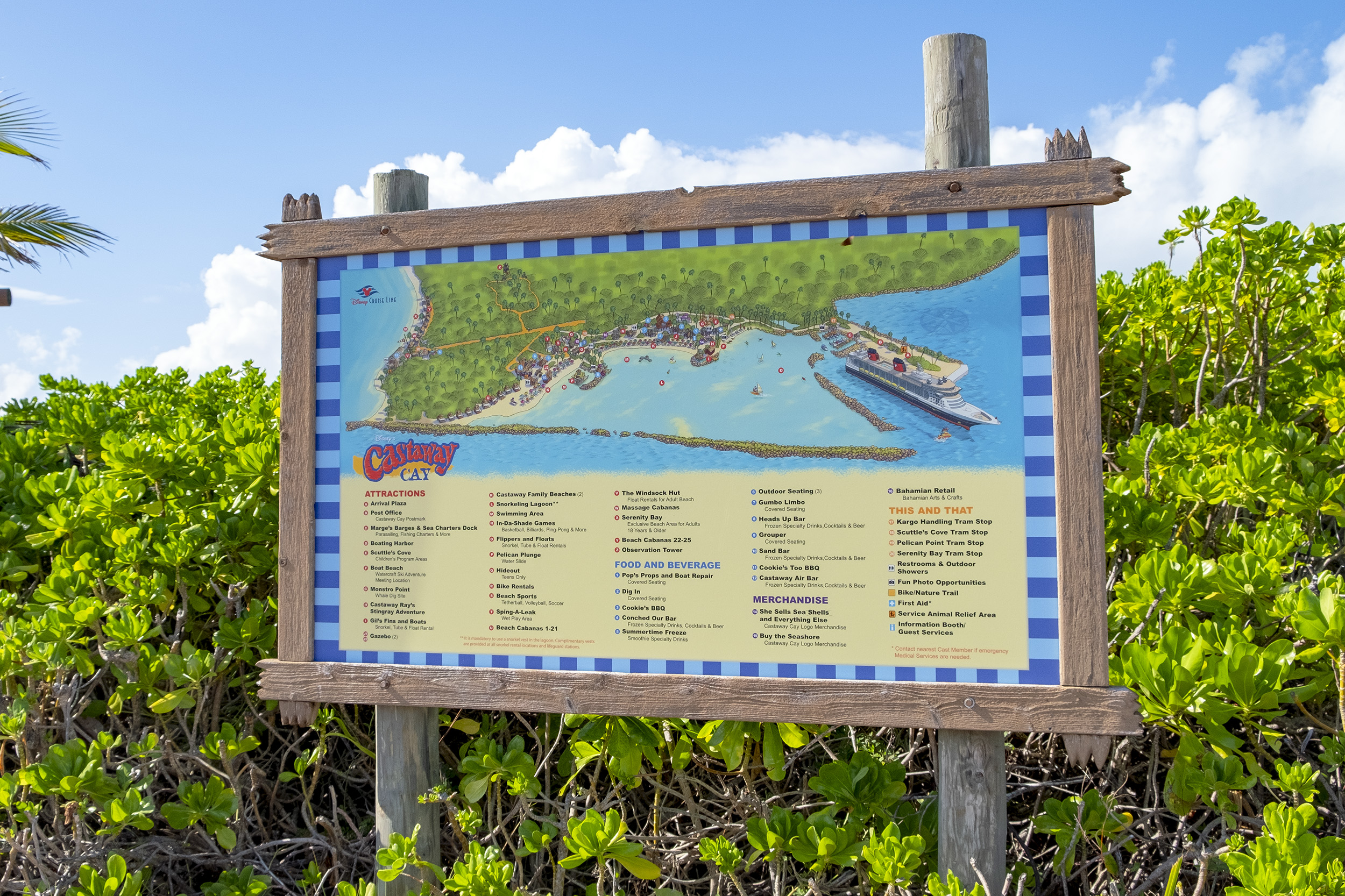 Map Castaway Cay