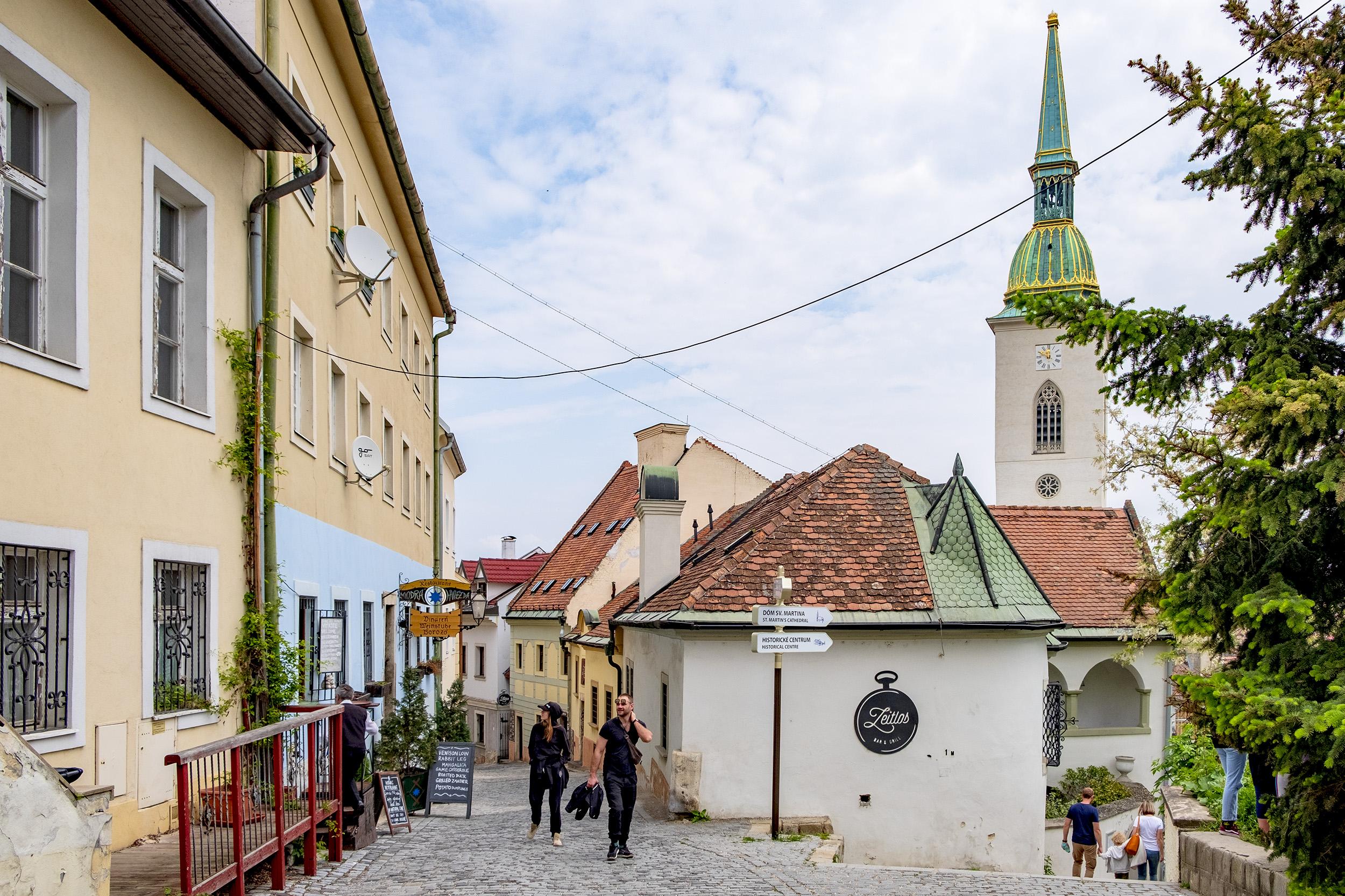 Beblaveho Street Bratislava Slovakien