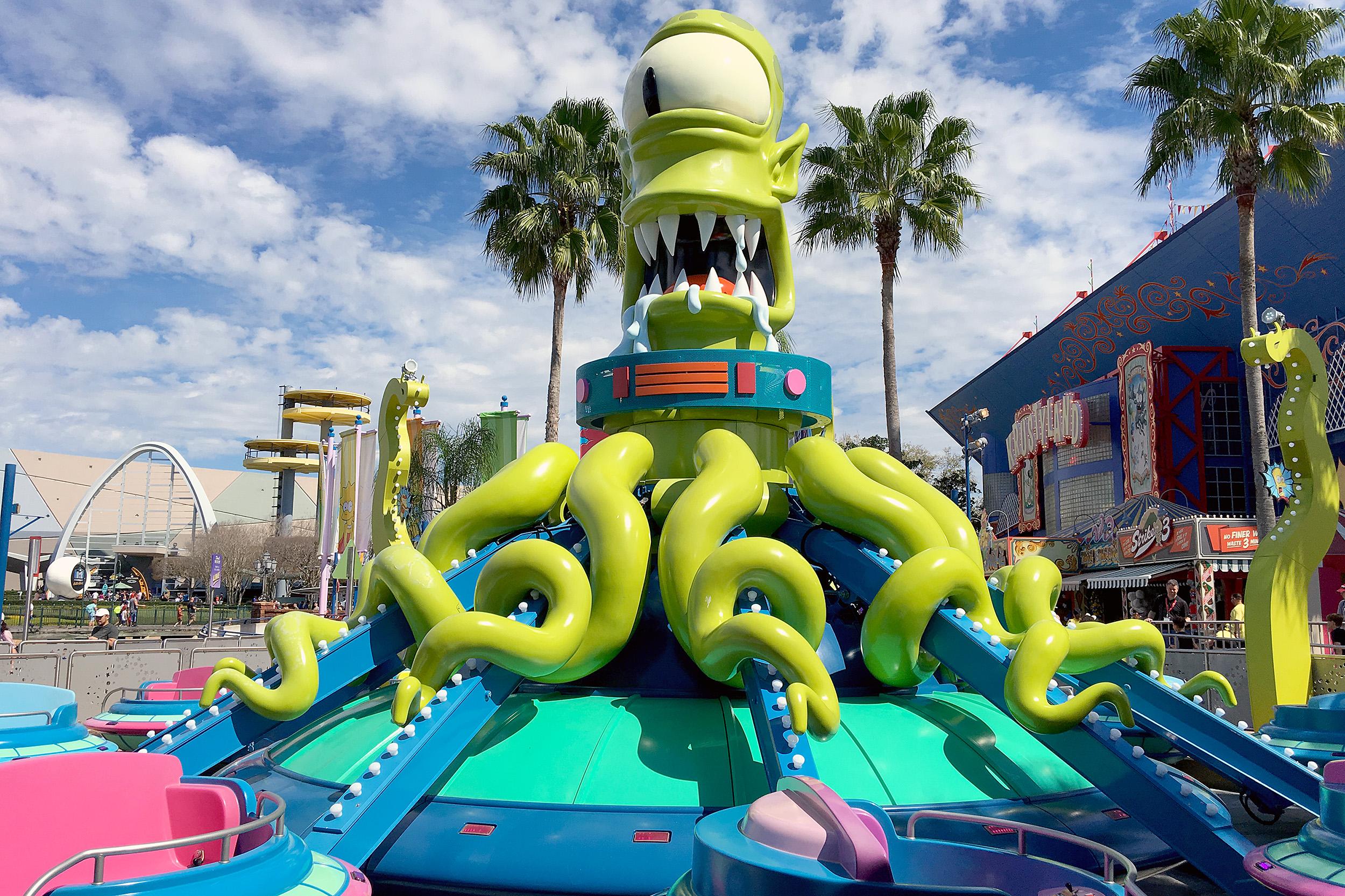 Kang & Kodos Twirl 'n' Hurl Universal Studios Florida Åkattraktion Simpsons