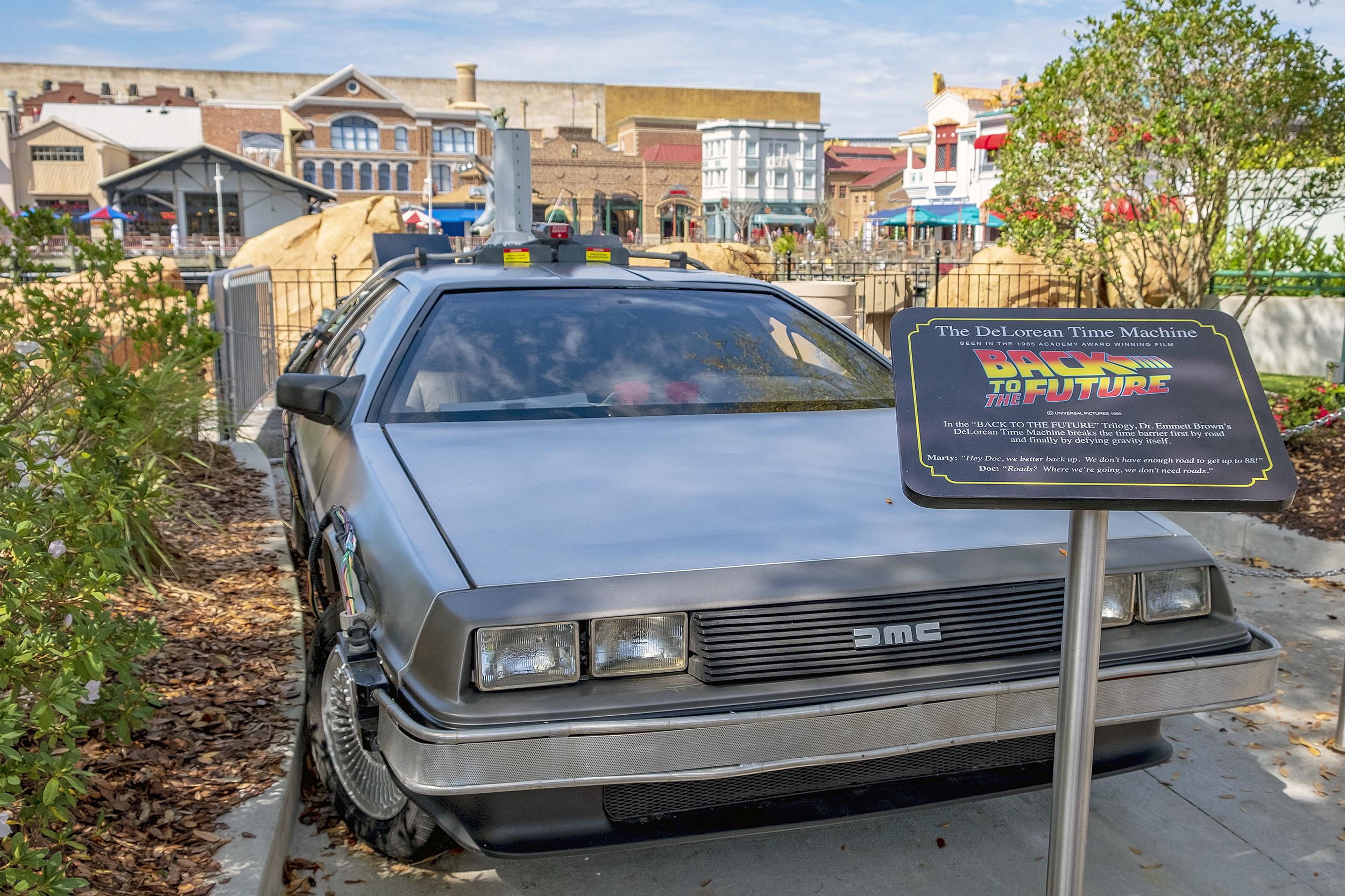 Delorean car back to the future Universal Studios Orlando