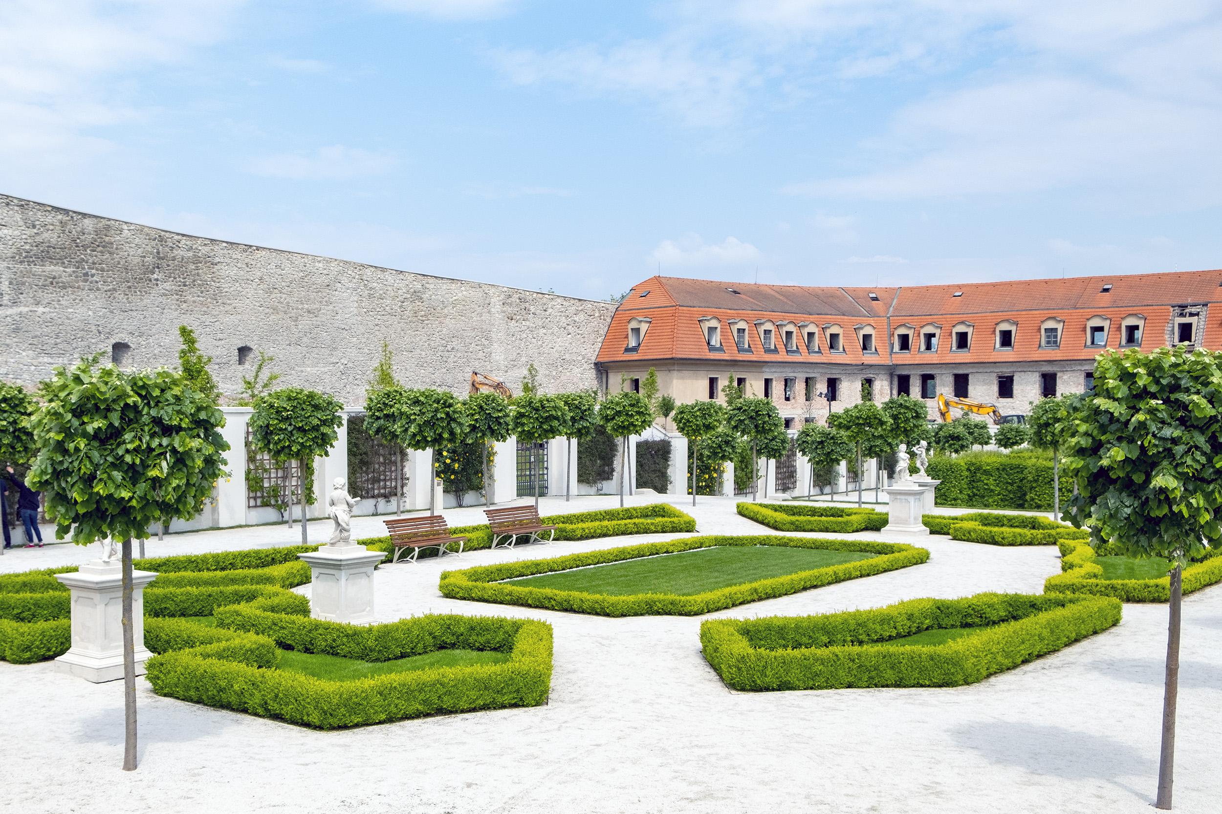 Slottet i Bratislava Trädgård Park