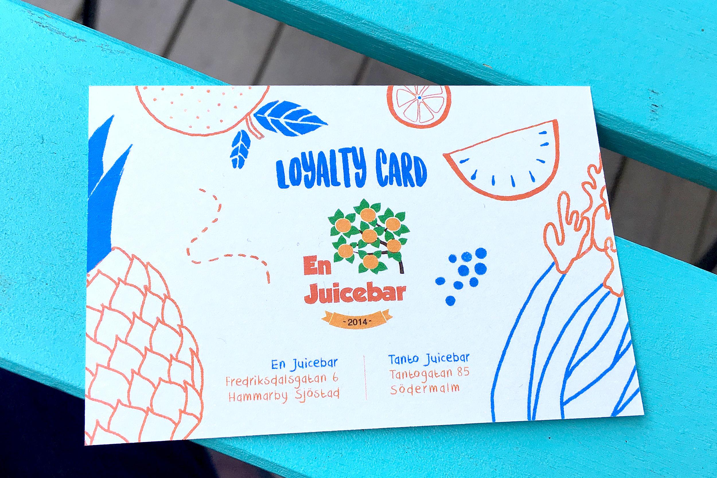 Loyalty Card En Juicebar