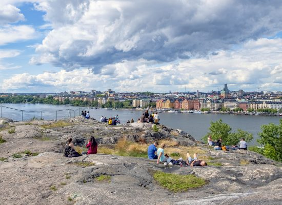 Utsikt mot Kungsholmen från Skinnarviksberget, Södermalm