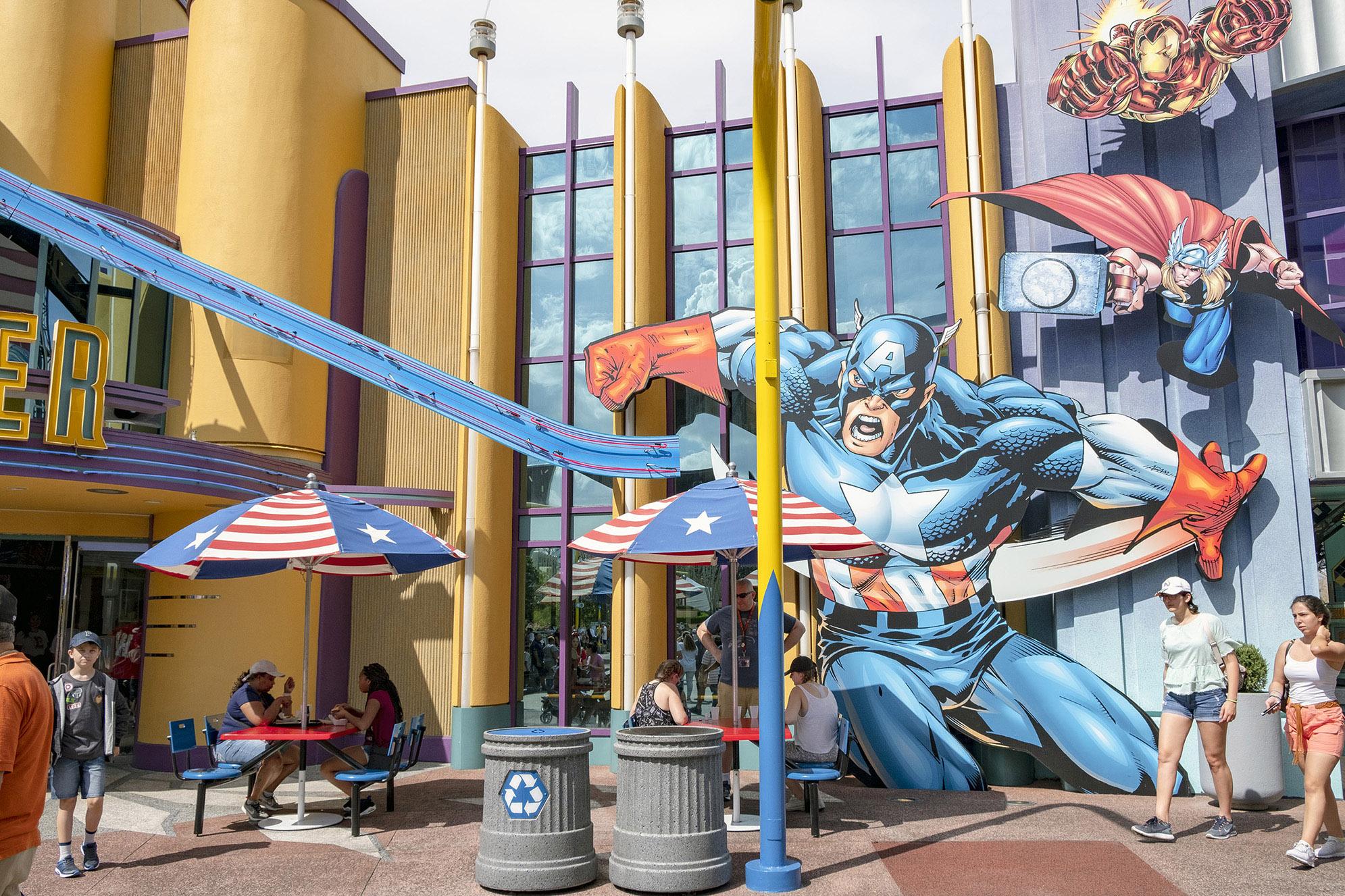 Captain America Diner Islands of Adventure