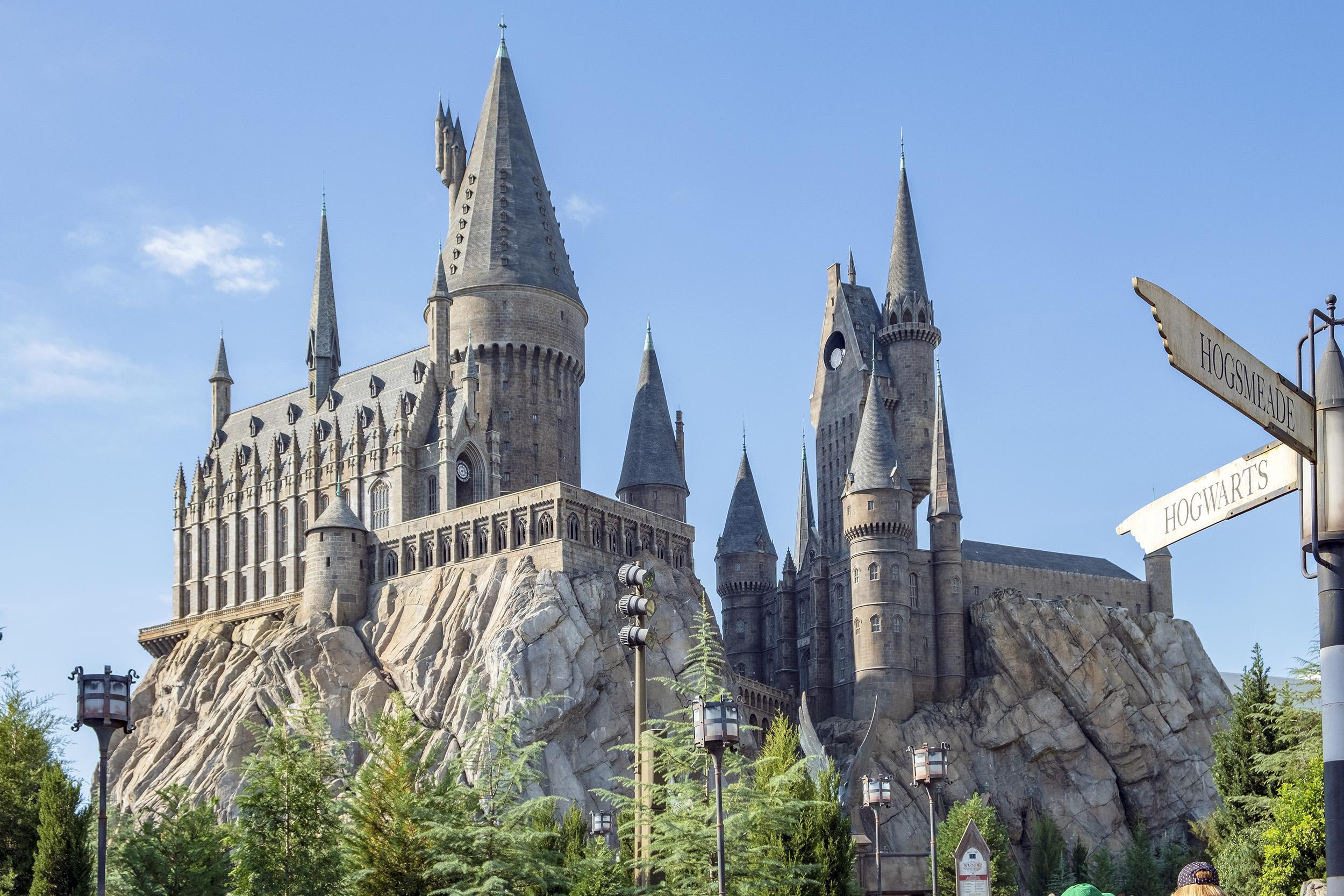 Hogwarts Castle i Wizarding World of Harry Potter