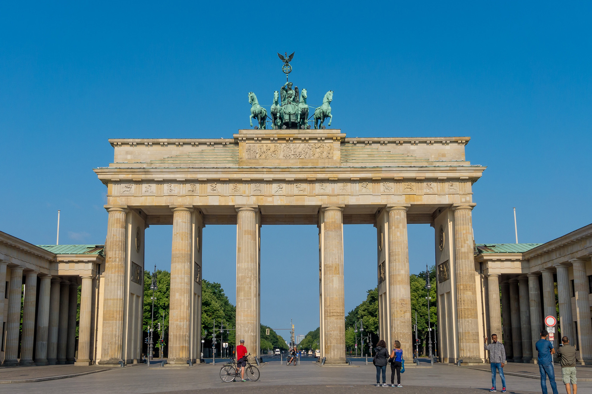 Brandenburger Tor Berlin, huvudstäder.