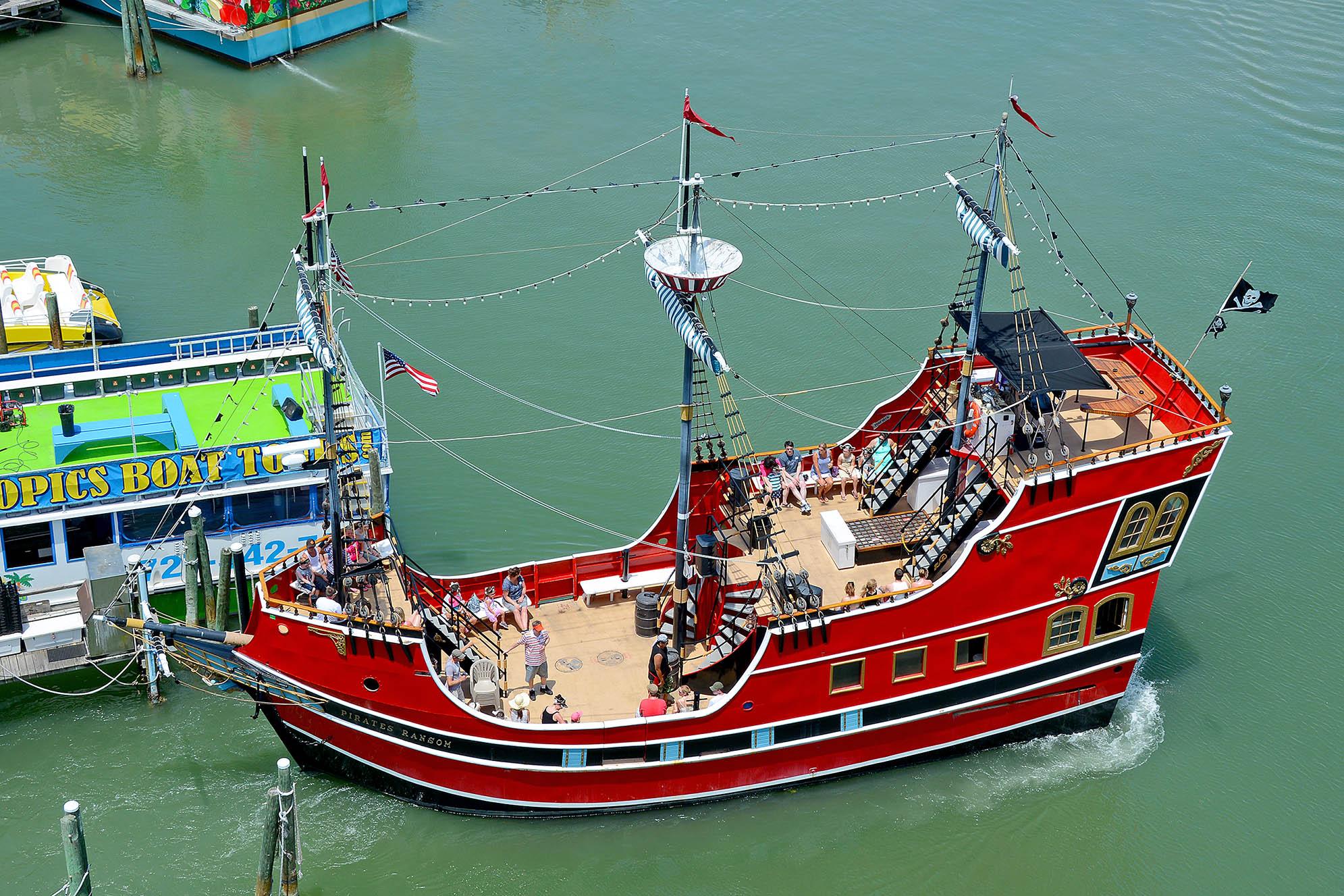 Clearwater Beach pirate boat