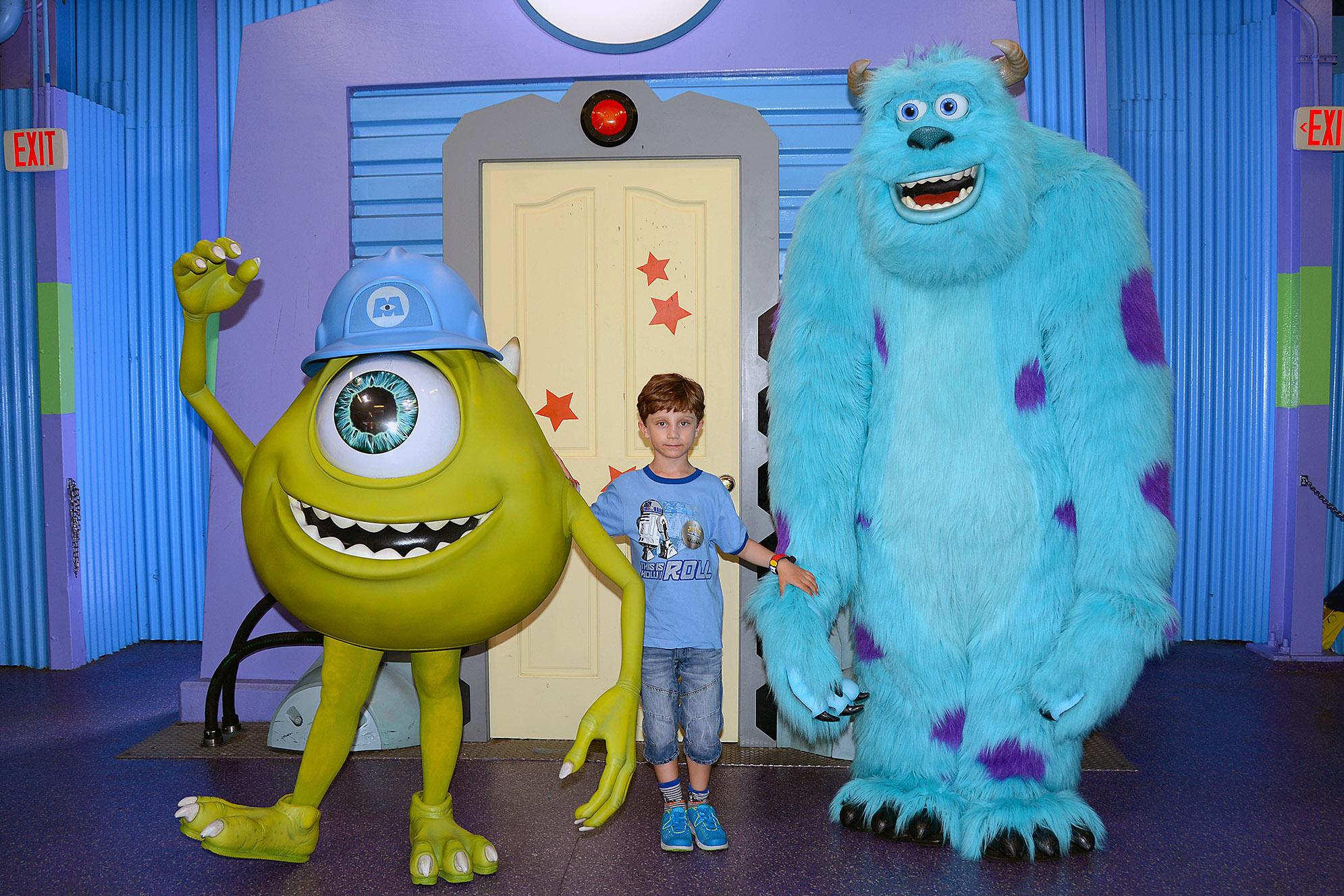 Mike och Sullivan från  Monsters, Inc.