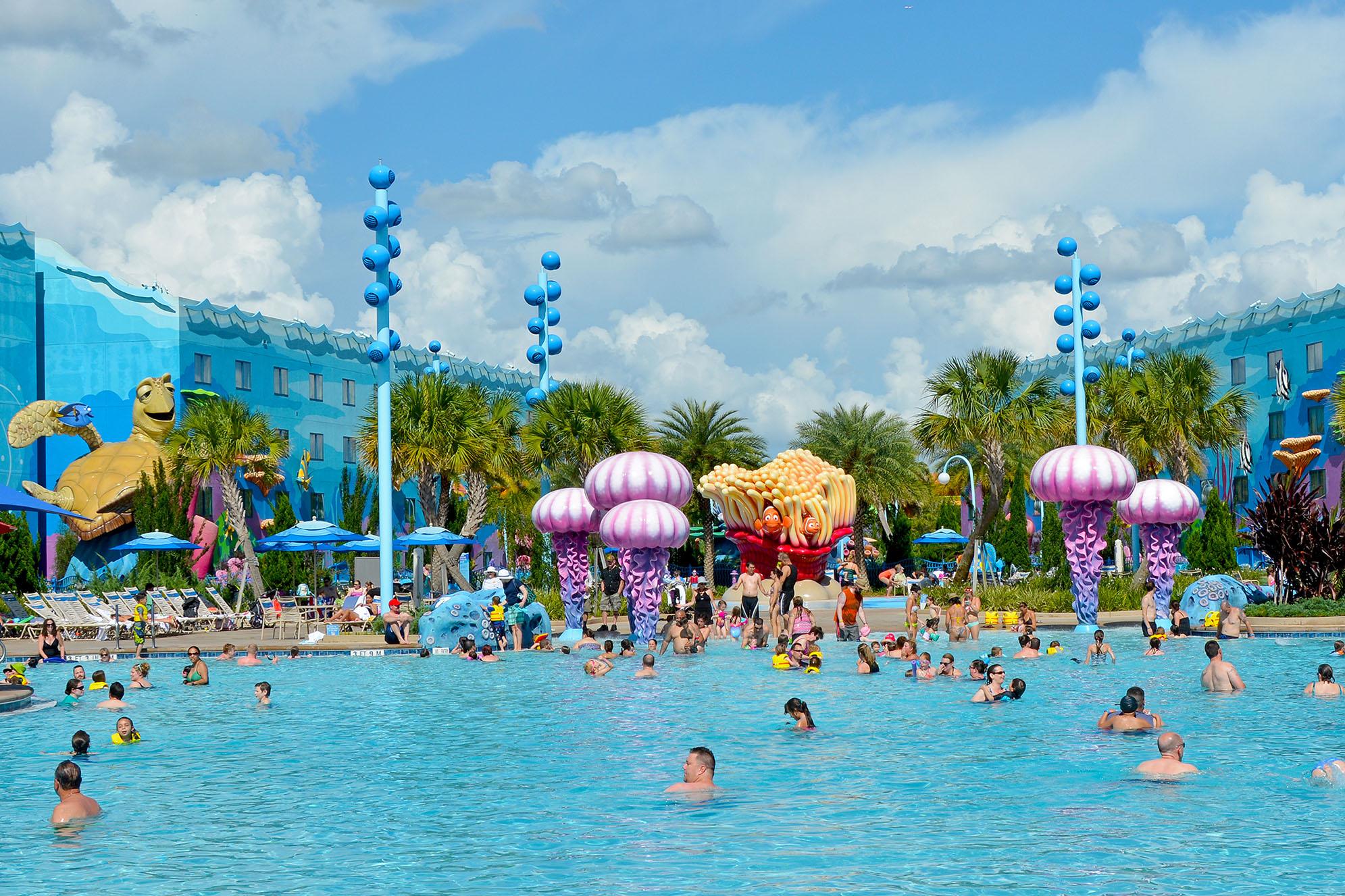 The big blue på Disney's Art of Animation Resort