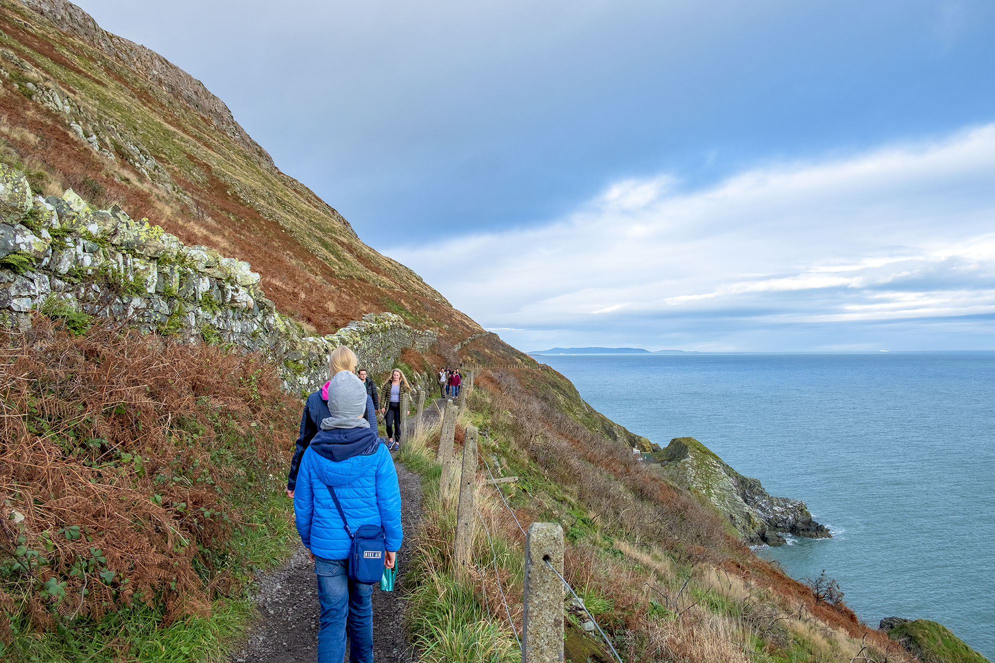 The Cliff Walk mellan Greystones och Bray.