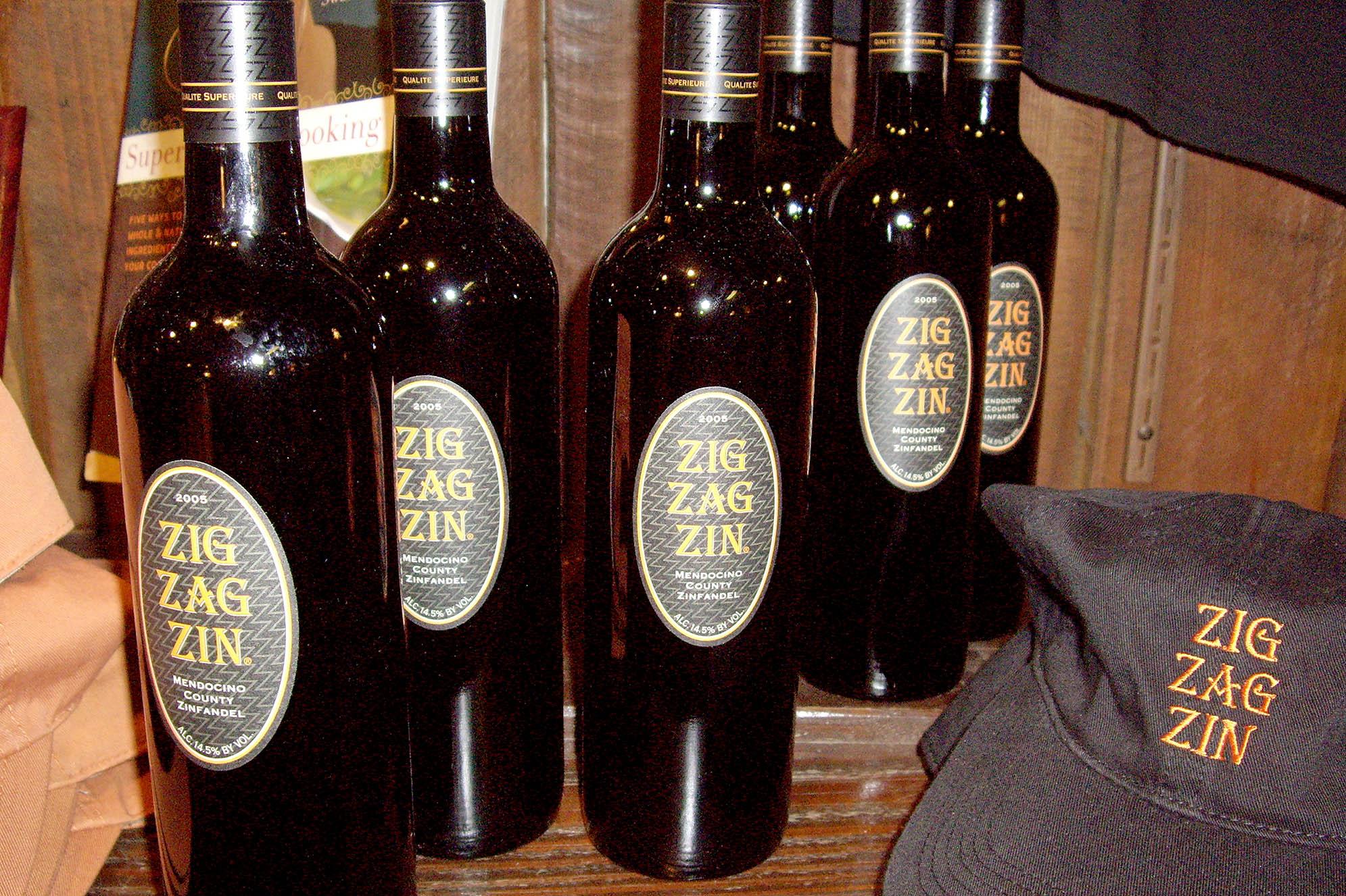 Mendocino Wine Zig Zag Zin Ukiah Mönster