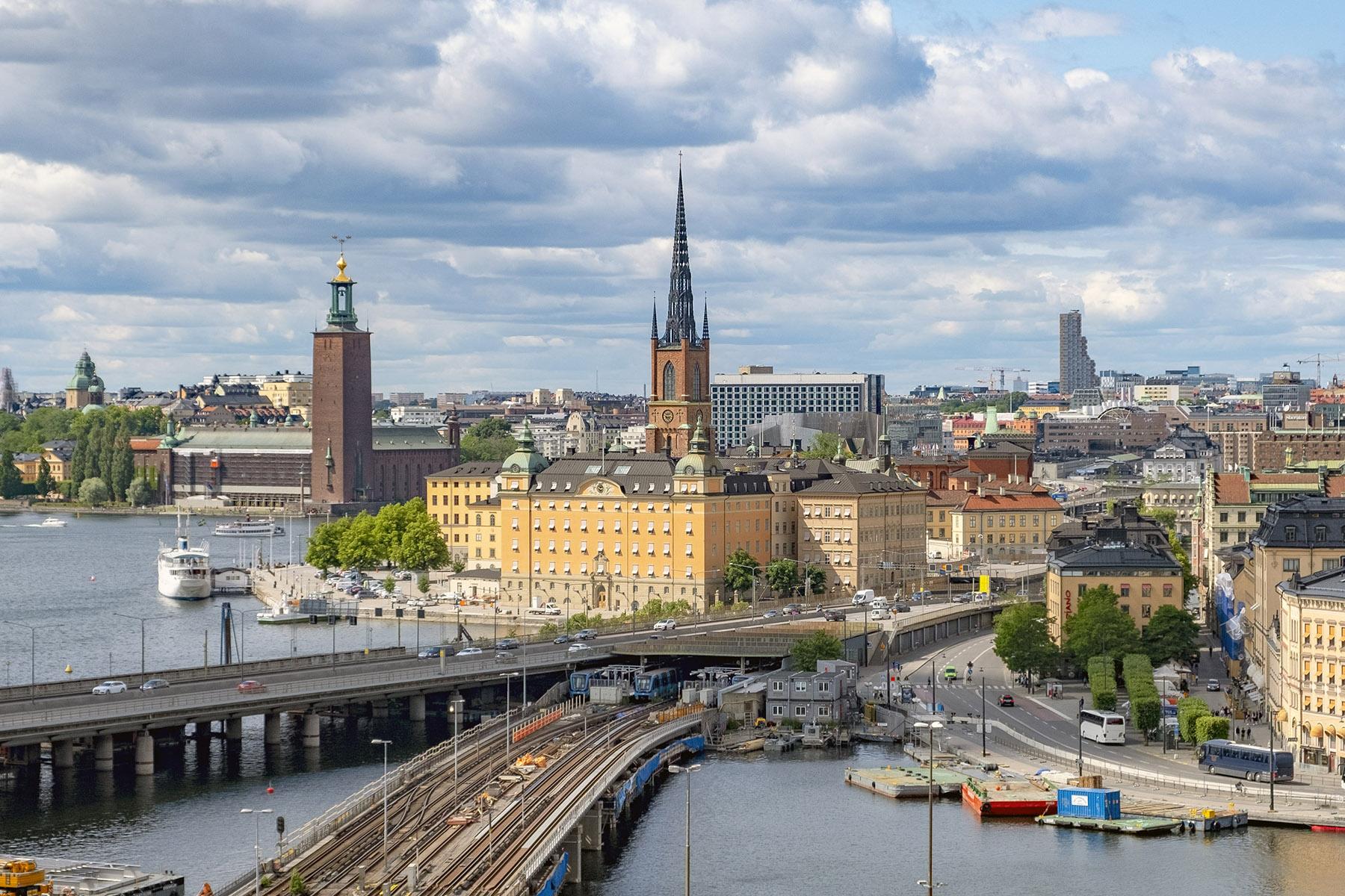 Utsikt från Katarinahissen Stockholm