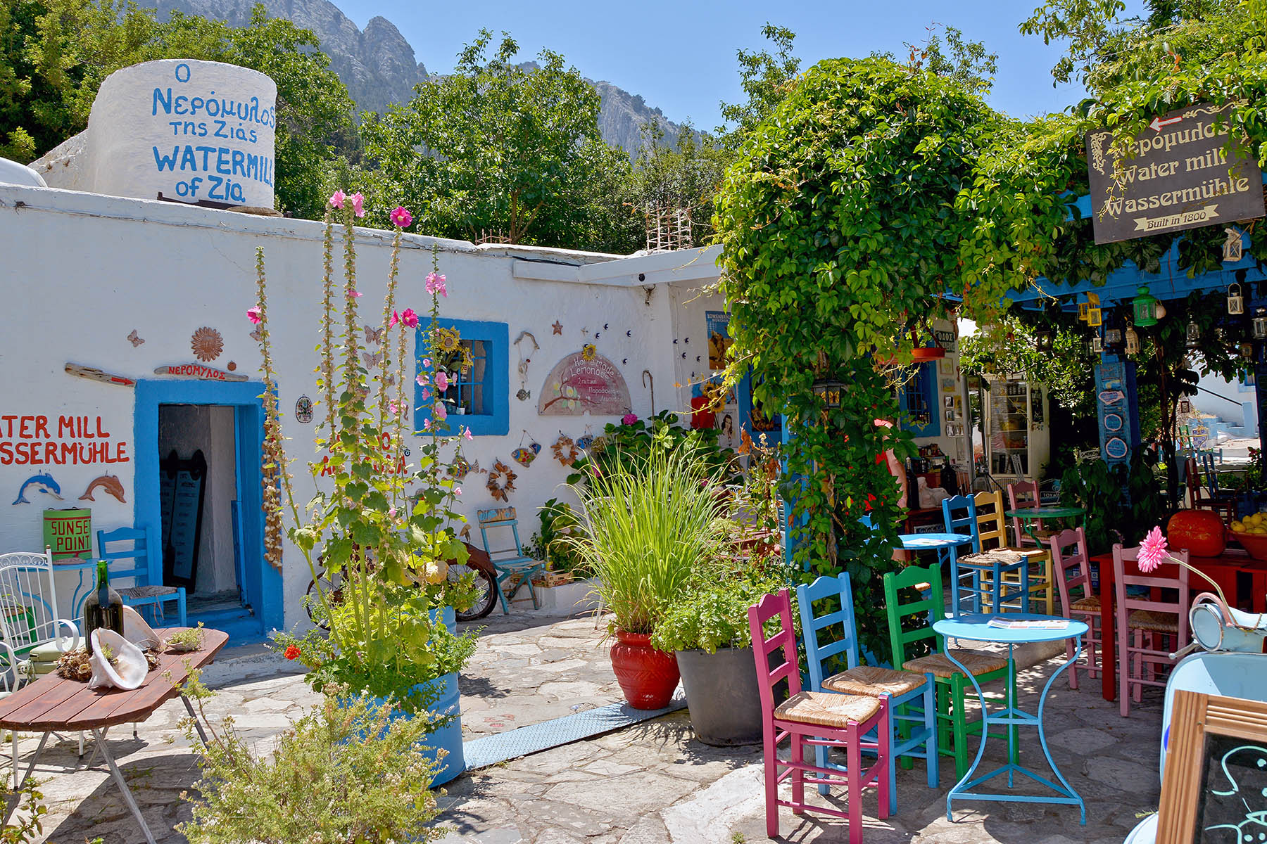 Watermill Zia Kos Grekland
