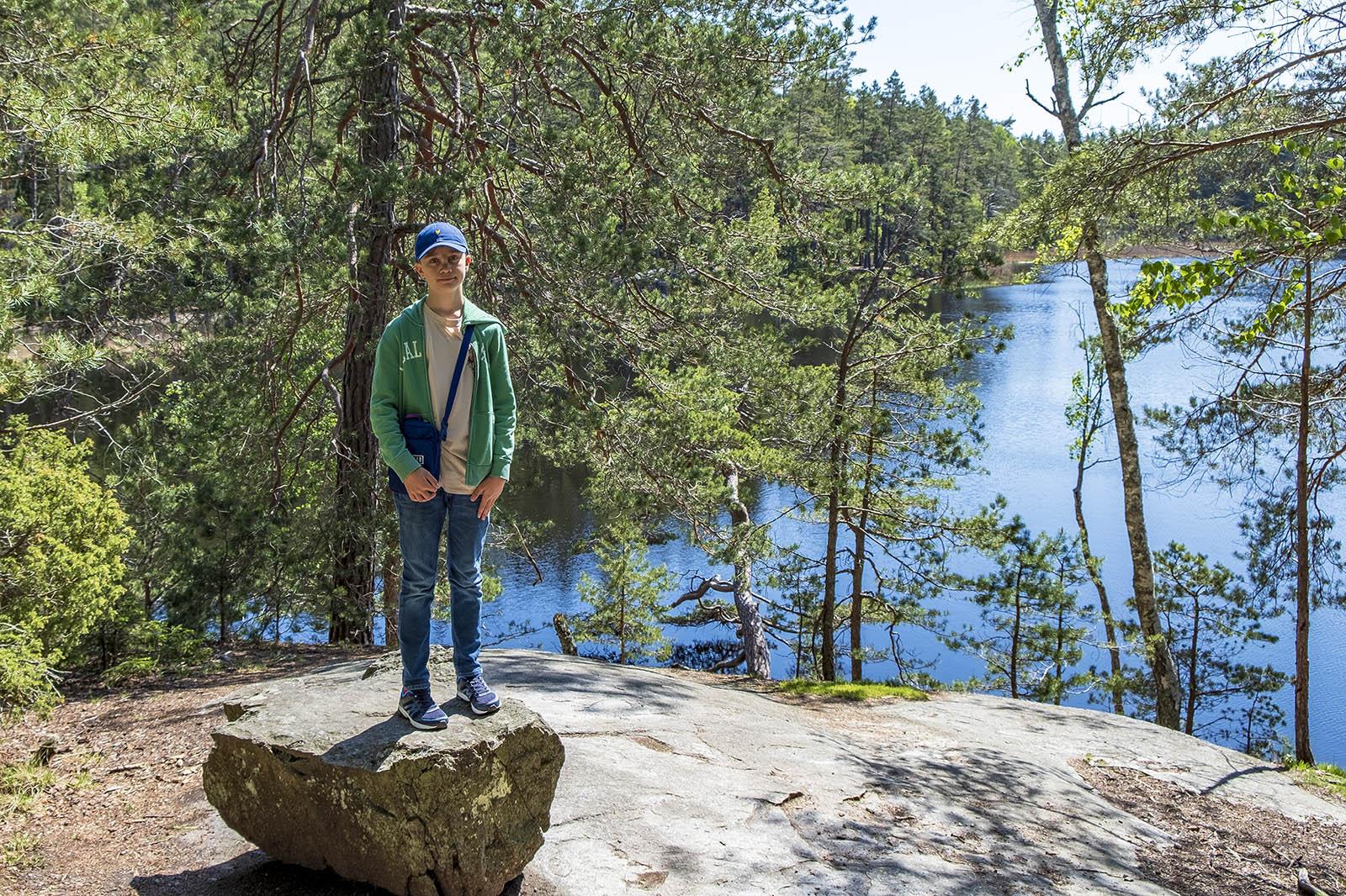 Barnvagnsslingan Tyresta Nationalpark Bylsjön