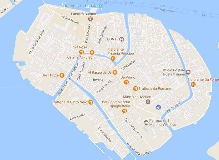 karta över venedig italien Burano   den färgglada ön utanför Venedig   Från Stad till Strand karta över venedig italien